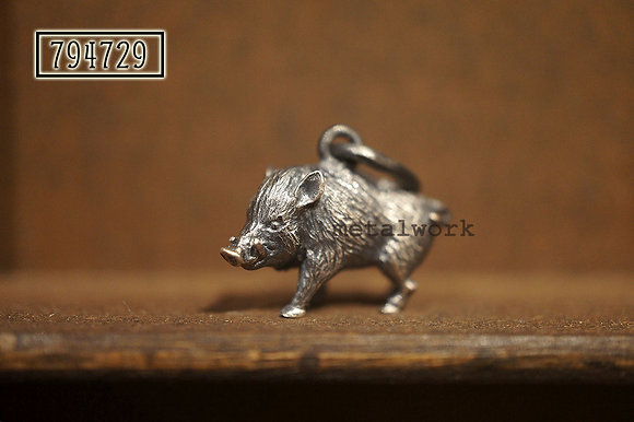 MW P1122 The 925 Silver Boar Pendant (Small)