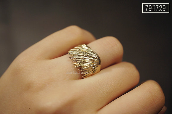 MW R1015 The 9K Gold Wing Ring (US Size3.25~5)