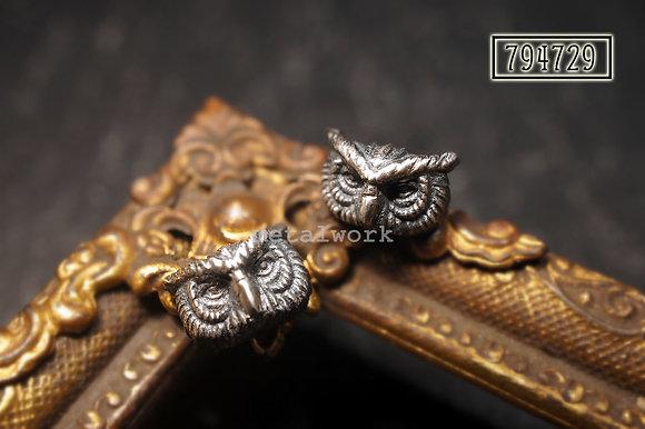 MW E1031 The 925 Silver Night Watcher Studd Earrings