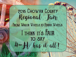 Chowan County Fair Poster