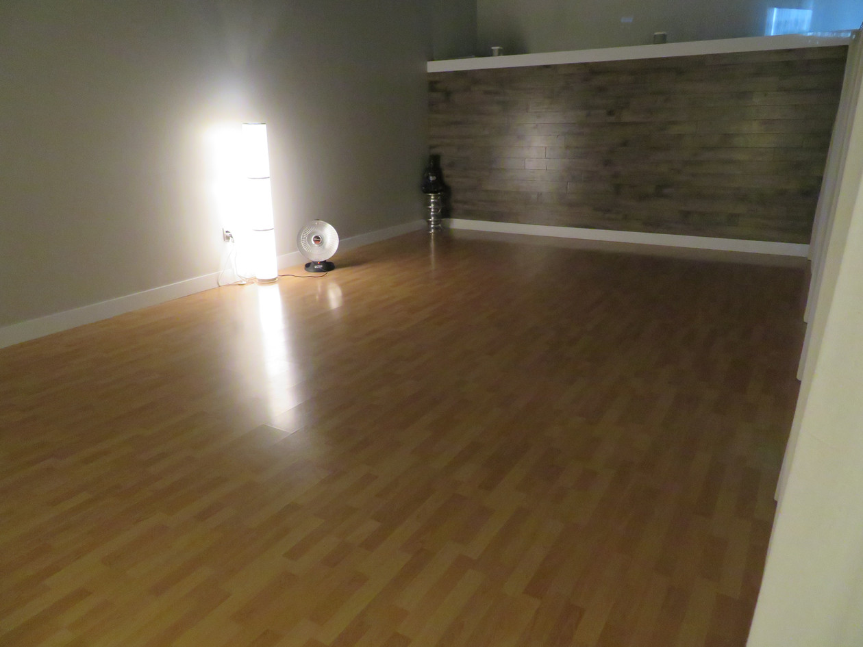 Yoga Studio with Curtain Closed