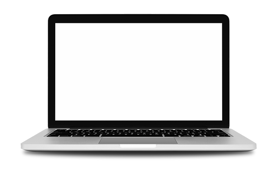 Laptop-with-blank-screen-on-white-479520