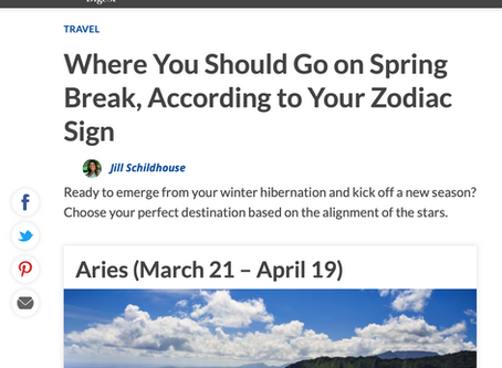 From Reader's Digest: Where You Should Go on Spring Break, According to Your Zodiac Sign