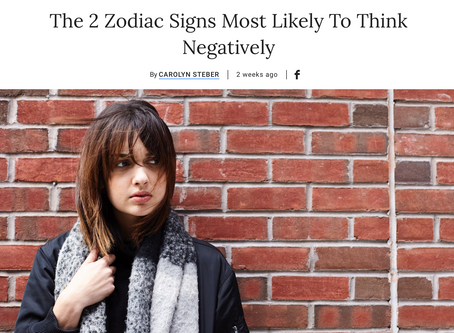 From Bustle: The 2 Zodiac Signs Most Likely to Think Negatively