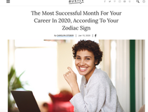 From Bustle: The Most Successful Month for Your Career in 2020