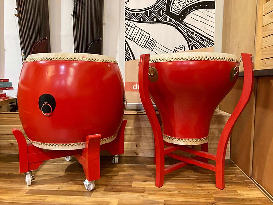 """Traditional Chinese Red Drums 22"""""""
