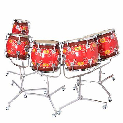 Traditional Chinese Five Tone Percussion Set 五音鼓