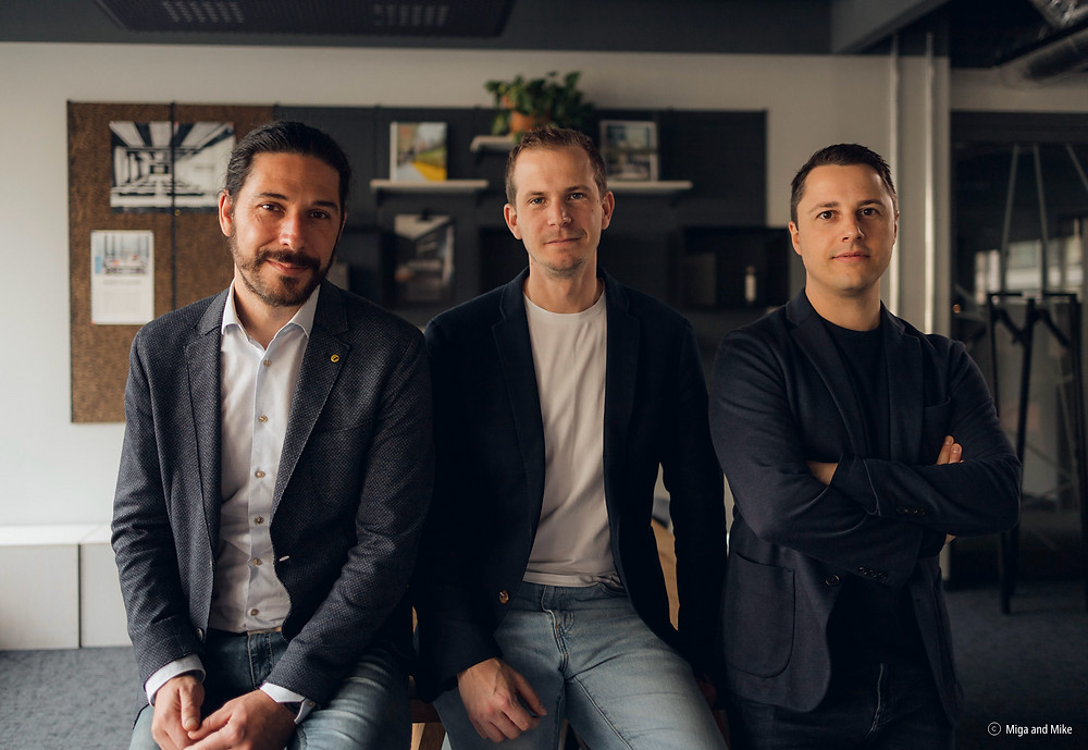 Our founders: Cesar (CTO), Sebastiaan (COO), and Patrick (CEO).