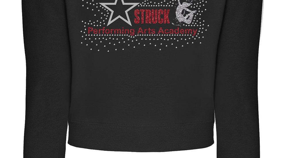 Rhinestone StarStruck Cropped Sweatshirt