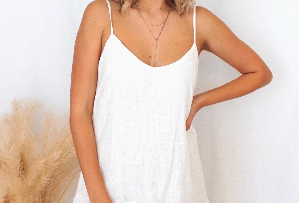 EVERLY DRESS // WHITE