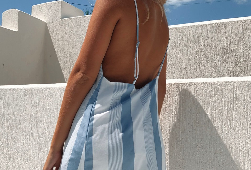 Cute stripe low back dress, this has perfect summer dress vibes all over it!