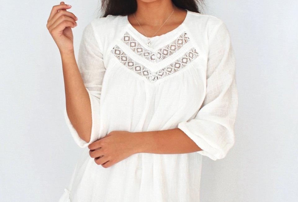 ANESTASIA DRESS // WHITE