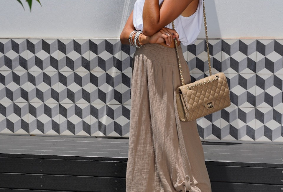 taupe coloured midi skirt buttons at each side cute style easy fit