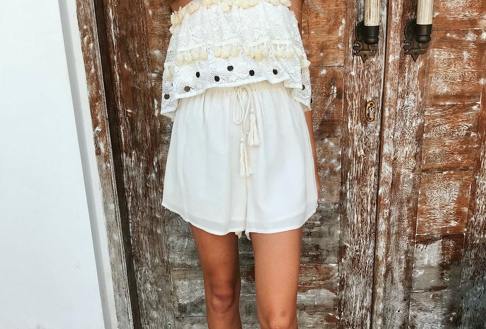 WANDER THE UNKNOWN PLAYSUIT // CREAM