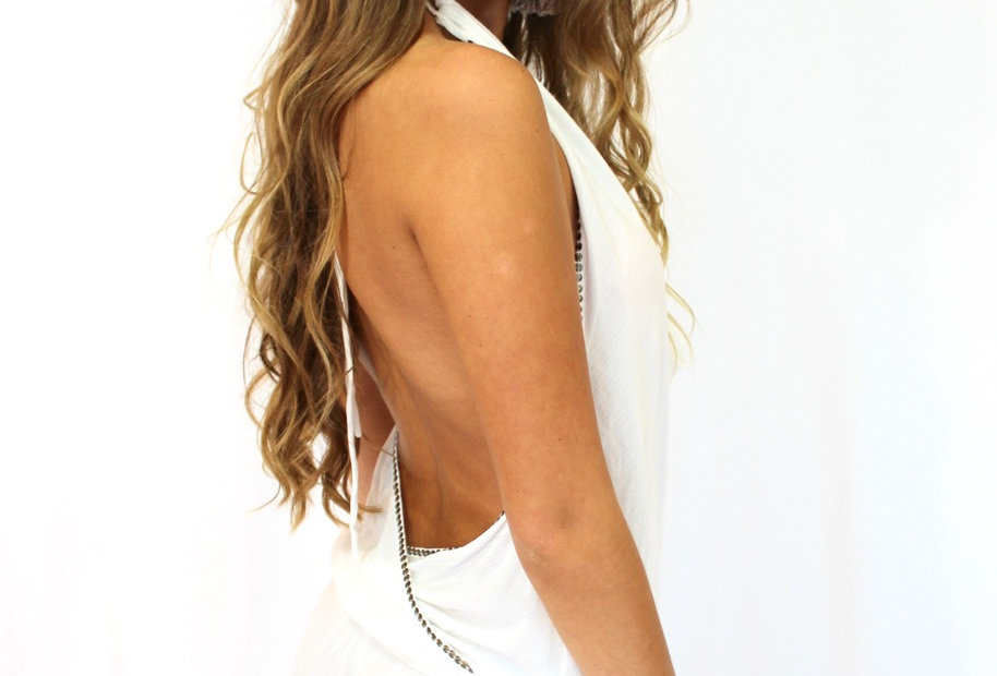 SHINE LUXE PLAYSUIT // WHITE