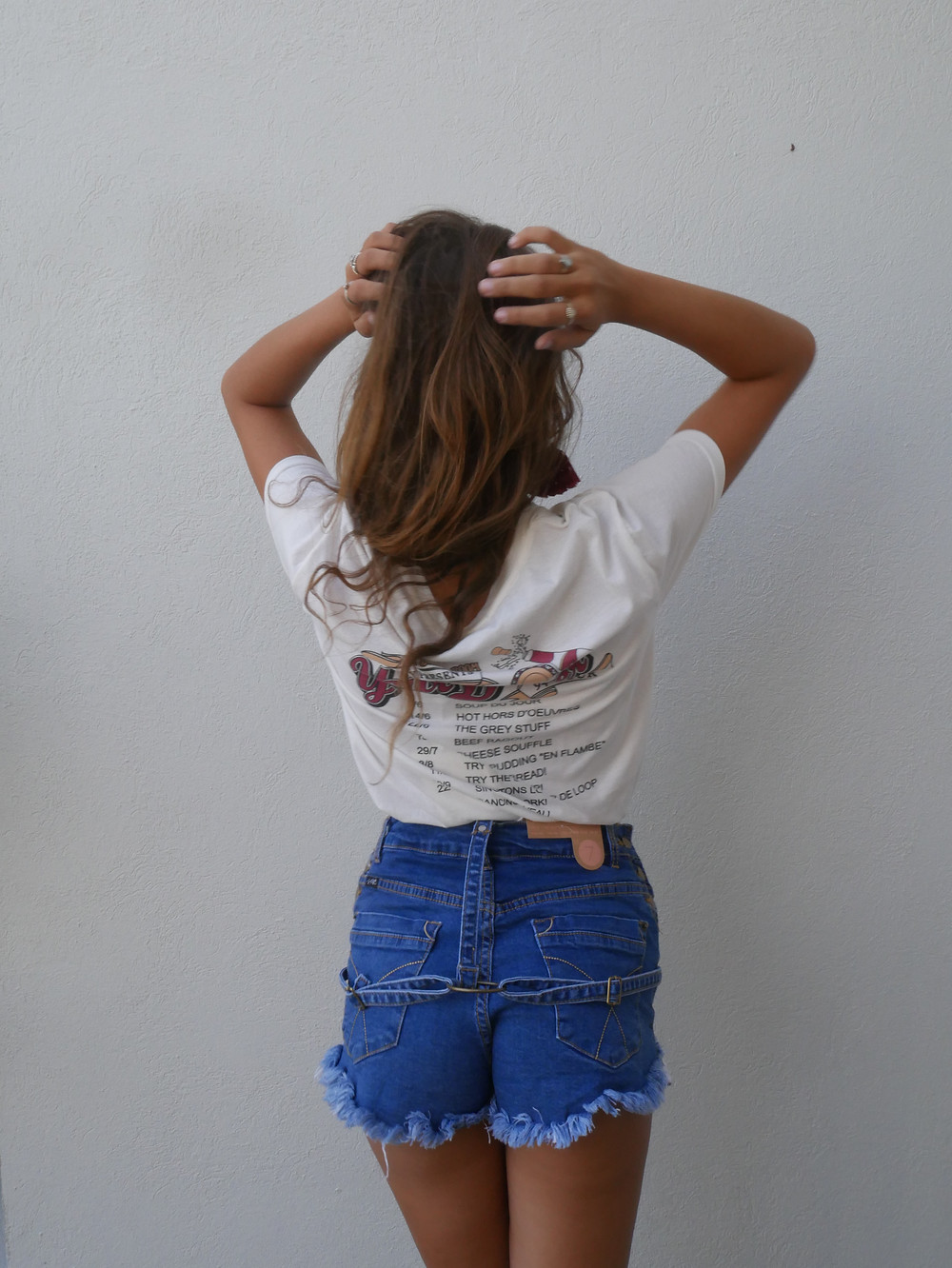 Dinsey Beauty and The Beast T-Shirt with The Dining Room Graphics  and Short Blue Denim Shorts from Shine Boutiques Sunshine Coast