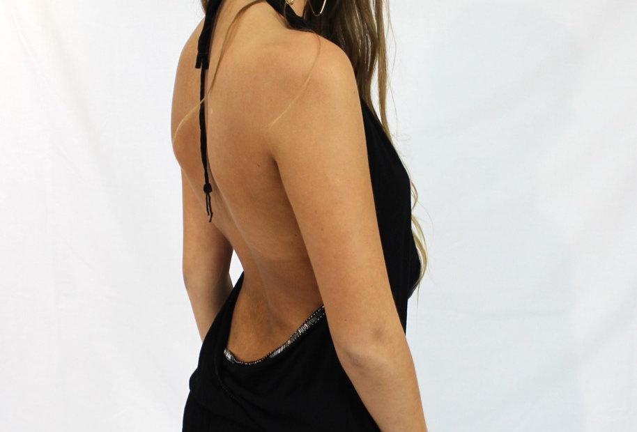 Black Playsuit Low Back