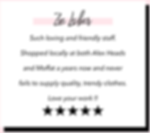 Zoe Leiber Google 5 Star Shine Boutiques