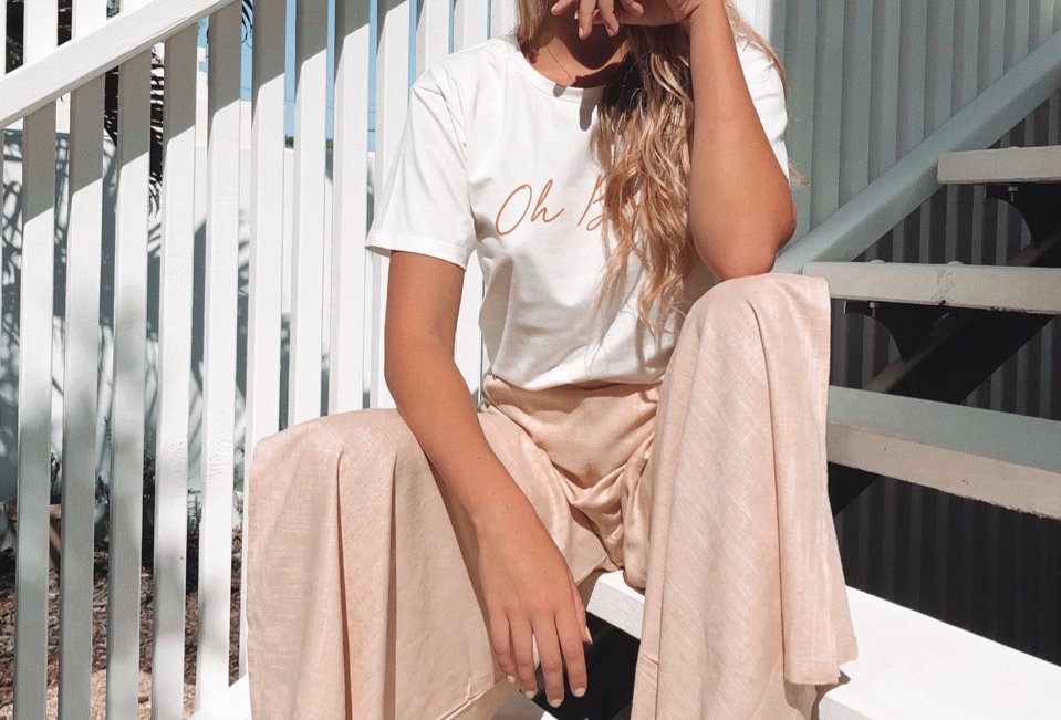 Cute linen beige pants, to dress up with a bodysuit or wear casual tee!