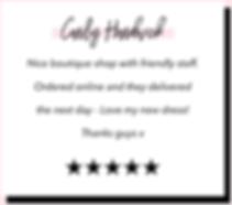 Carly Hardwick Google 5 Star Shine Bouti