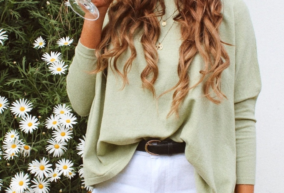Mint green lightweight knit jumper circle neckline easy fit