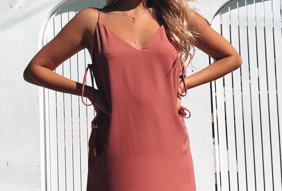 MAGNOLIA DRESS // BRICK