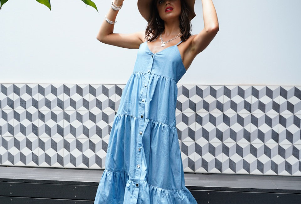 SEASON MAXI DRESS // BLUE