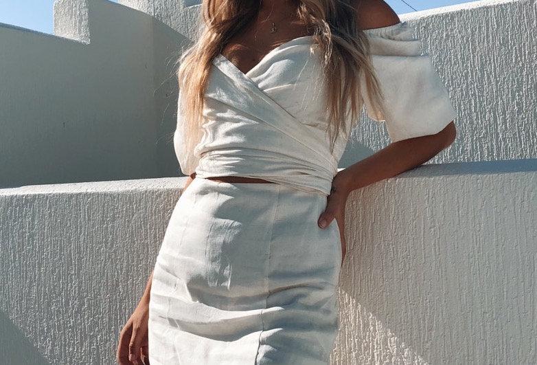 VANCE DRESS // NUDE