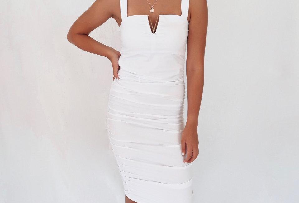 JEAN DRESS // WHITE