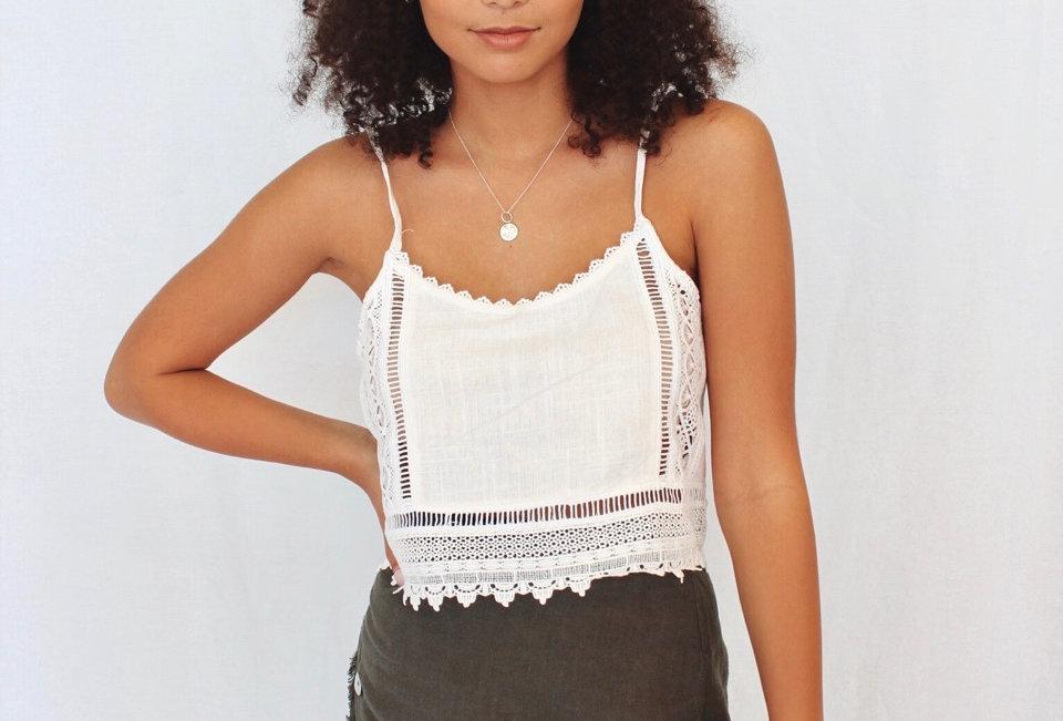khaki linen skirt buttons down side zip at back