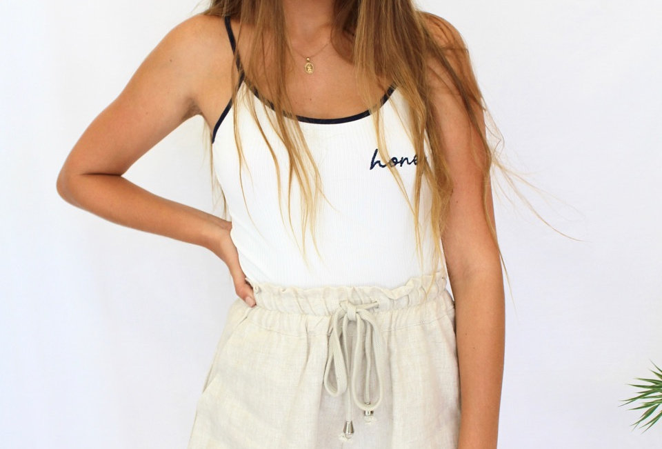 Cute Beige linen shorts, summer must have! perfect cute casual look!