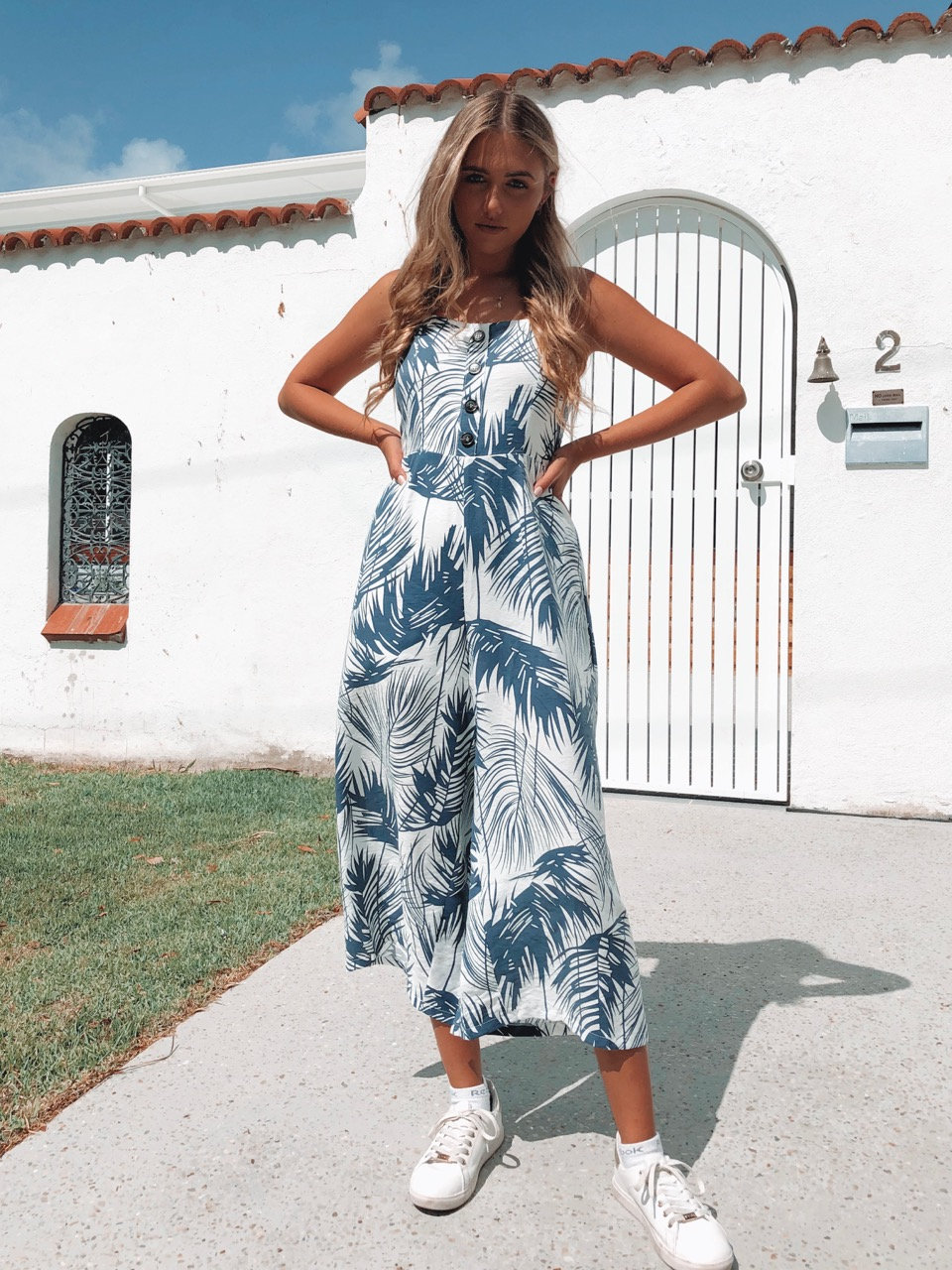 attractivefashion timeless design superior materials BEA JUMPSUIT // PALM TREE | shineboutiques