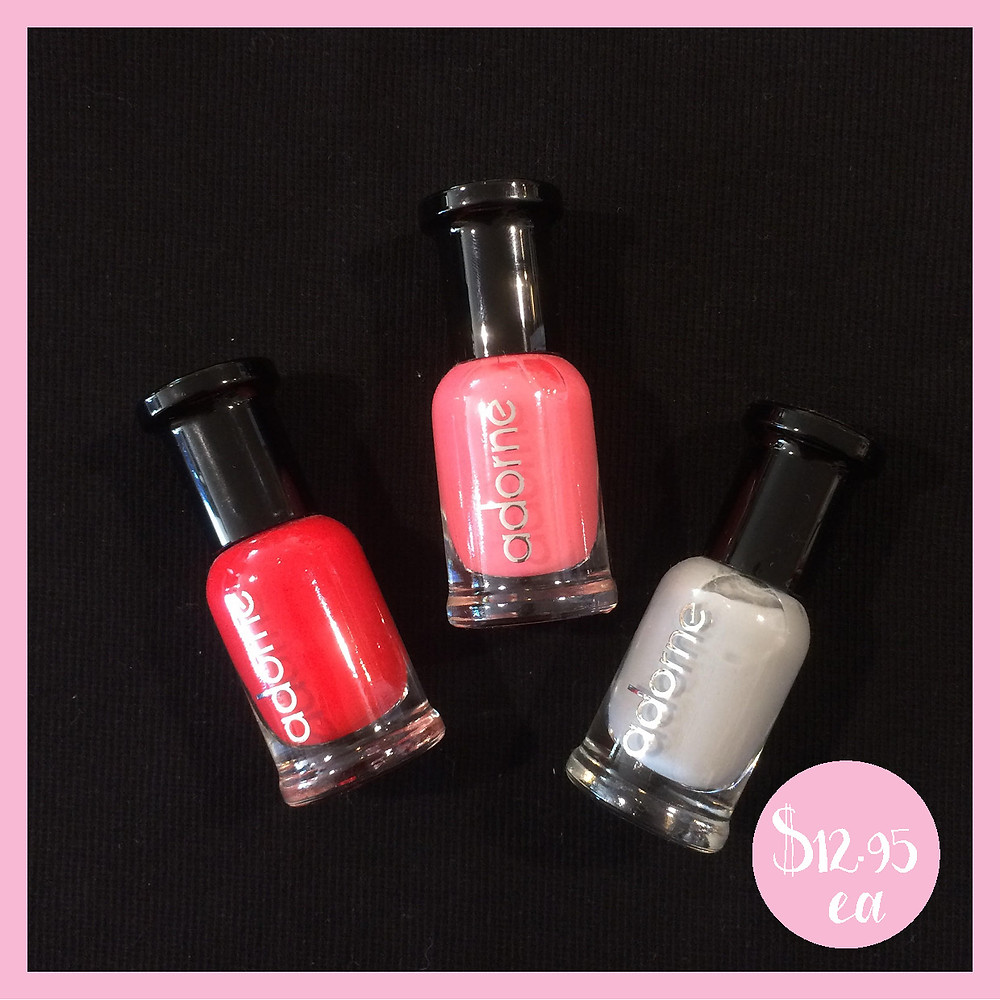Adorne Nail Polish Red Pink and Grey from Shine Boutiques Sunshine Coast