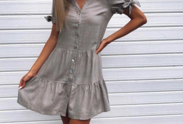PEYTON DRESS // TAUPE