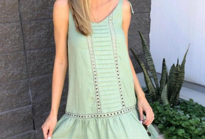 STELLA DRESS // APPLE GREEN