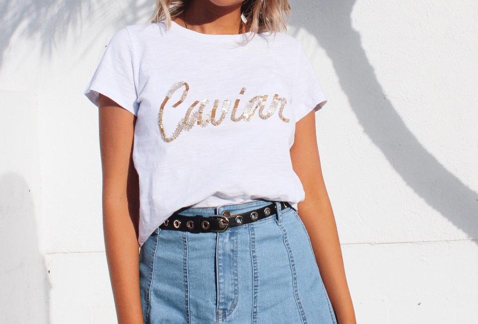 CAVIAR TOP // WHITE