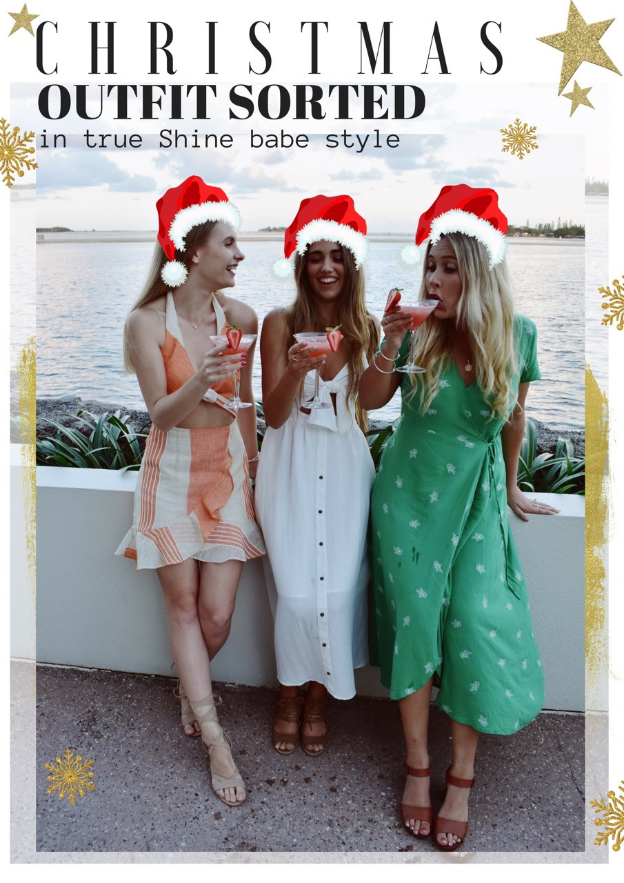 Shine Boutiques Shine Babes dressed in their cute as christmas day outfits