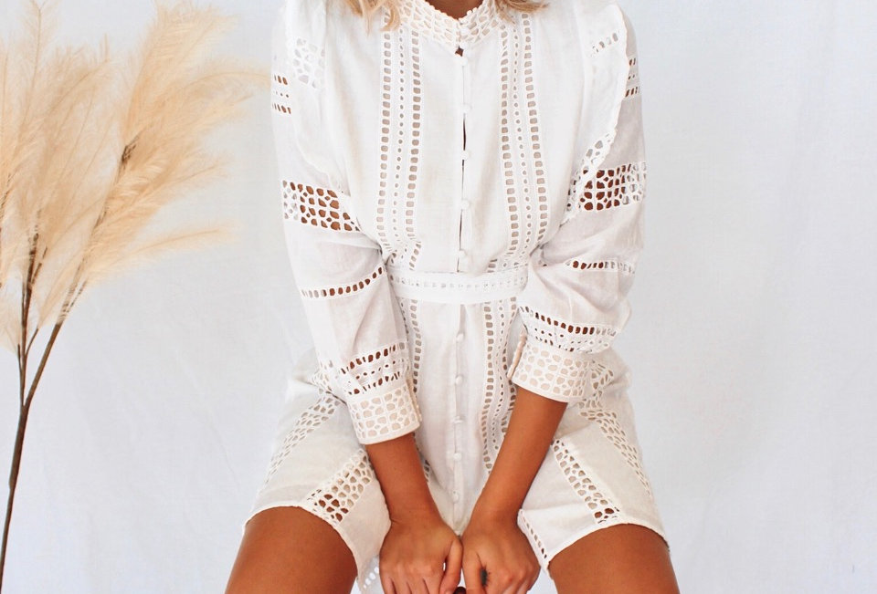 LENNON DRESS // WHITE