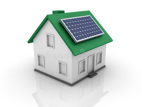 three-dimensional-illustration-house-sol