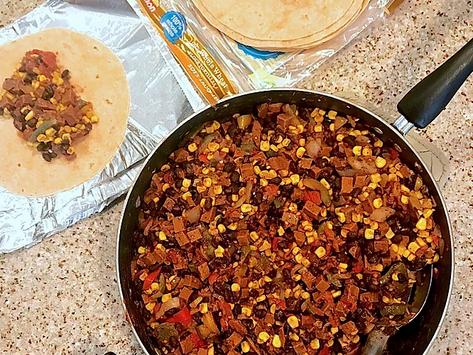 Low-Calorie Vegan Breakfast Burritos