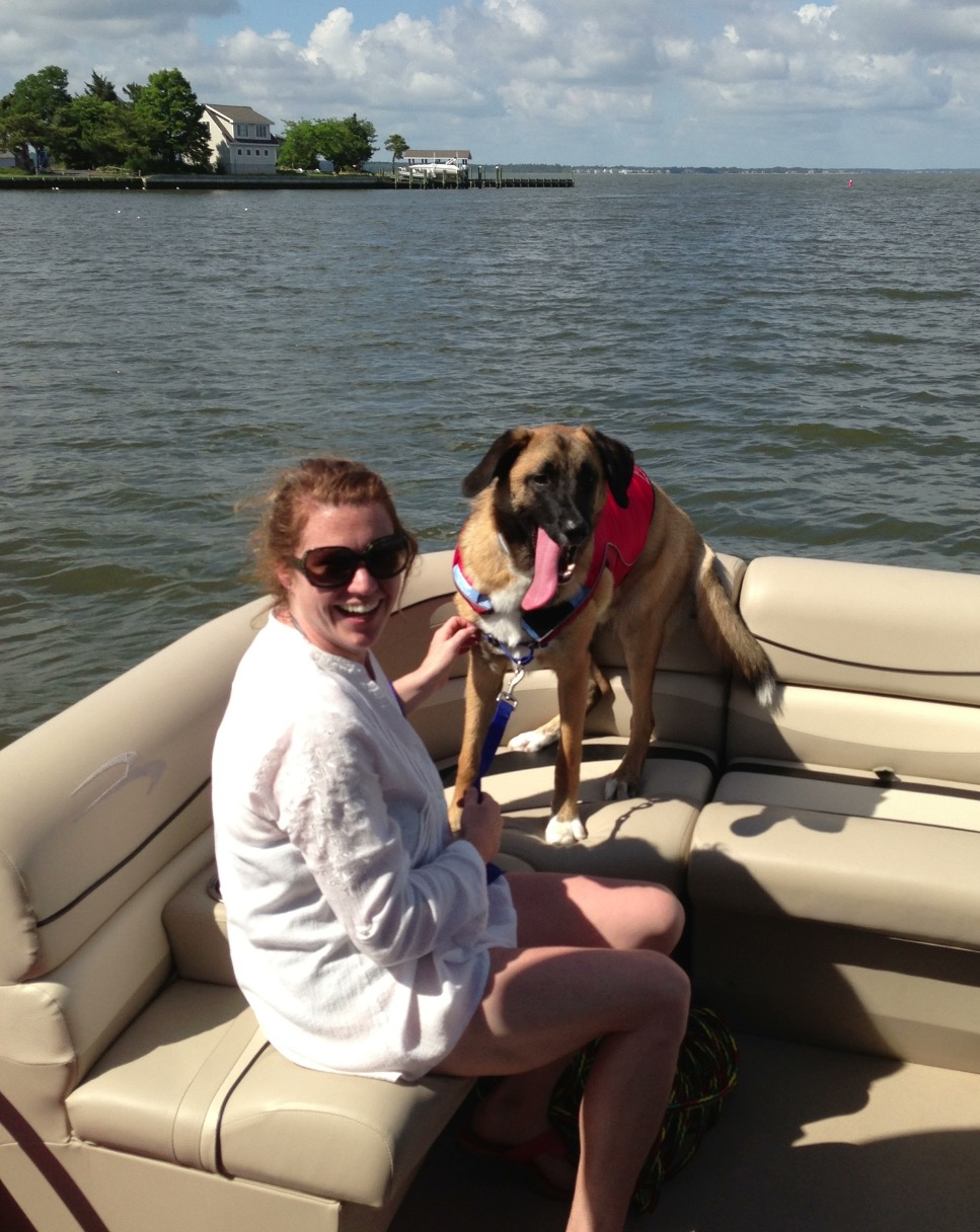 Tug's 1st Boat Ride