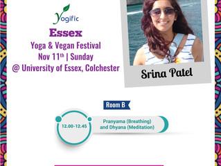 Yoga & Vegan Festival this weekend, Sunday 11th November