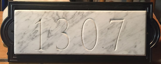 5 2016 address sign 1307 for Kyle, 5x15