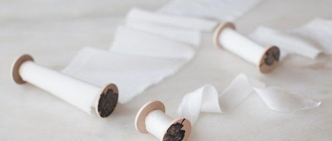 Pure White Silk Ribbon