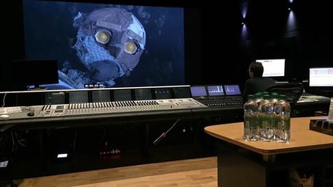 Scraps in the sound editing suite at Pinewood Studios