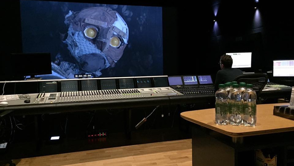 Scraps in the sound editing suite at Pinewood Studios