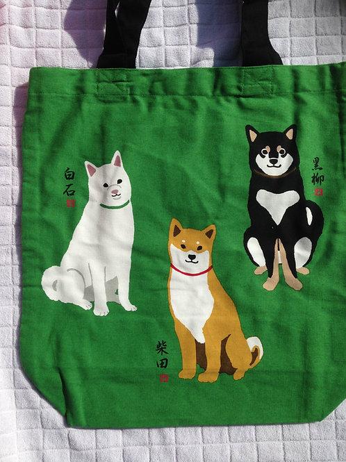 Three Shibas bag