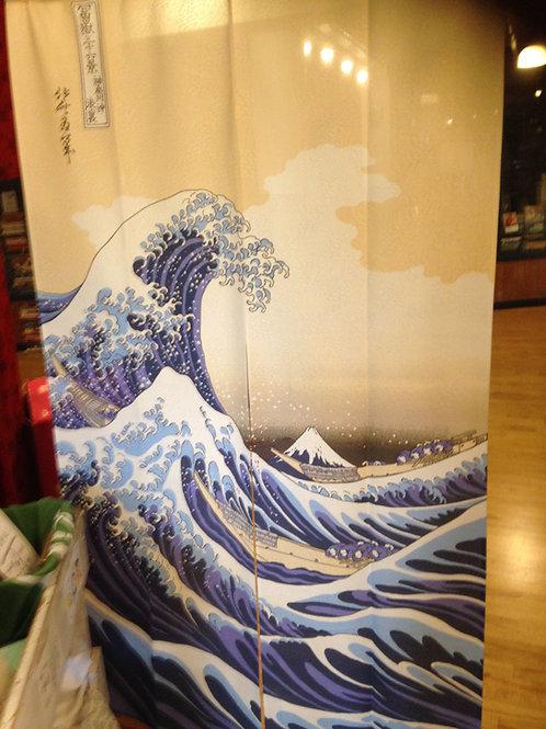 Long Noren of the great wave off Kanagawa