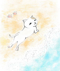 Osara Print ; Sexy Cat on the beach.jpg