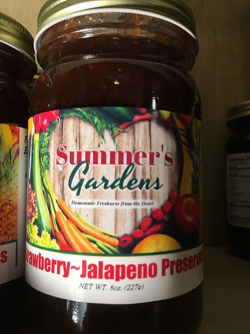 Strawberry Jalapeno Preserves